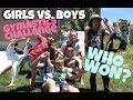 Girls VS Boys Family Gymnastics Challenge
