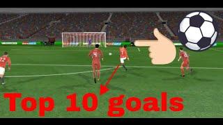 Top 10 beautiful goals of Cristiano Ronaldo 2018 full HD - Dream League Soccer