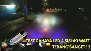 Test cahaya lampu led 4 sisi (40 watt) RTD M02K Terang banget !!!!! Recomended buat dibeli gan.