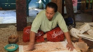Tapa Cloth Making Samoa 2013, Travel Video Guide