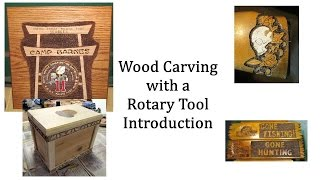 Rotary Tool Wood Carving Introduction