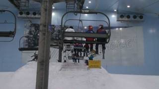 Skiing in Dubai - Ride up chairlift and down slope