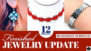 💜 FINISHED JEWELRY UPDATE -May 26 ✨Two Hole Beads of the Month Club May 2020 ✨Beading Project Share