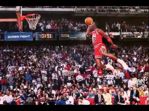 Michael Jordan Dunk (MJ Dunk from Free Throw Line Animated)
