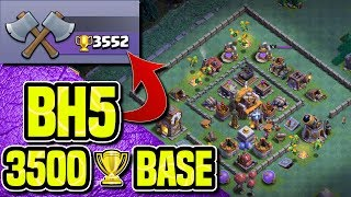 BH5 - PUSH 3500 TROPHIES WITH THIS BASE BUILD | PROOF - REPLAYS | Clash of Clans