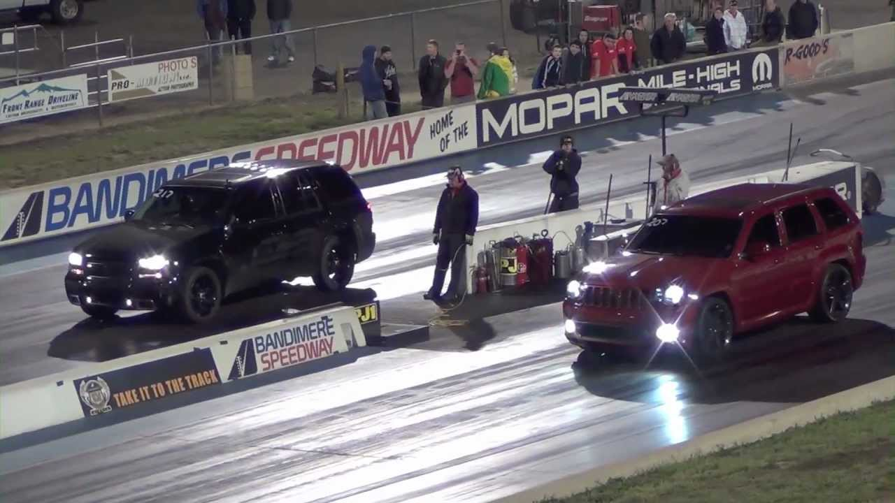 Jeep Grand Cherokee SRT8 with Nitrous vs Chevy Trailblazer SS