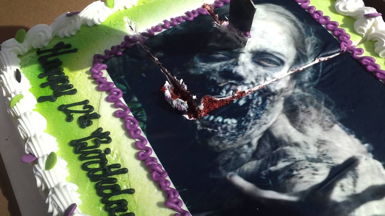 The Walking Dead Cake Youtube