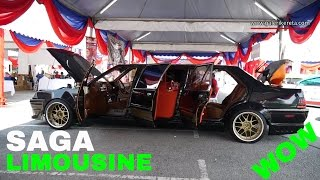 Proton Saga Limousine Car Interior and Exterior | Custom Modified for Autoshow | Galeri Kereta