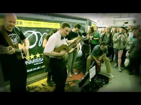 #Once = The 1st West End Cast to Busk on the London Underground!