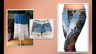 Модели вязания/Джинс + трикотаж.Юбки, шорты,брюки.