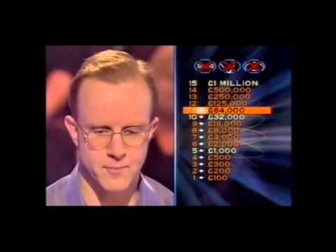 Who Wants to be a Millionaire 16th February 2002 Patrick Calthrop