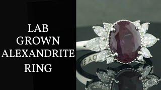 Nature Inspired Alexandrite Ring