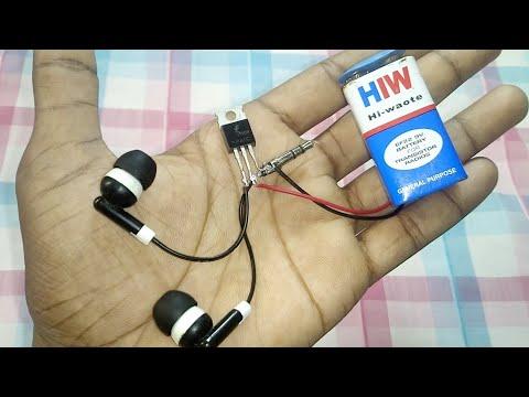 wow! amazing diy audio Amplifier using z44n ic | diy amazing idea