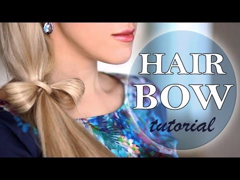 hair bow ponytail hairstyle. long