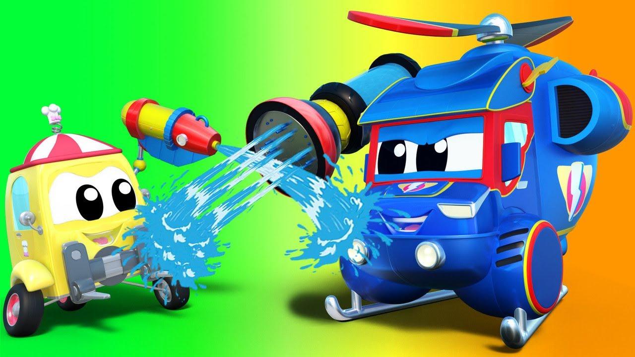 رسوم متحركة للشاحنات للصغار - الشاحنة الخارقة السونجكران: معركة المياه تنتهي !الشاحنة الخارقة
