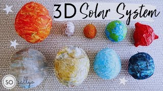 How to Make Paper Mache Planets - 3D Solar System Crafts for Kids