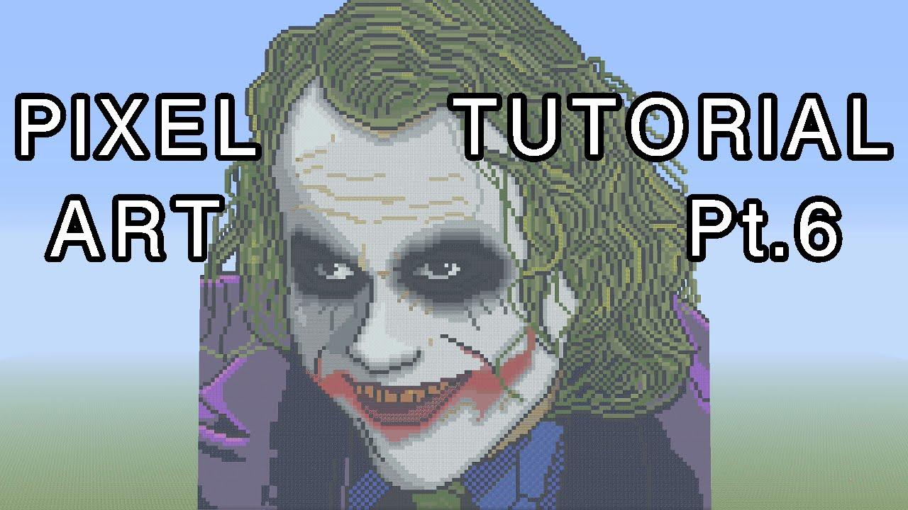 Minecraft Pixel Art Tutorial - The Joker (The Dark Knight) Part 6 ...