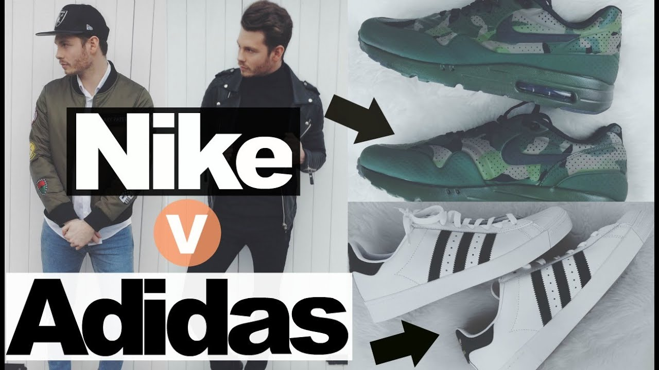Adidas Superstars Vs Nike Air Max Sneaker Comparison Review - How To Style  - YouTube