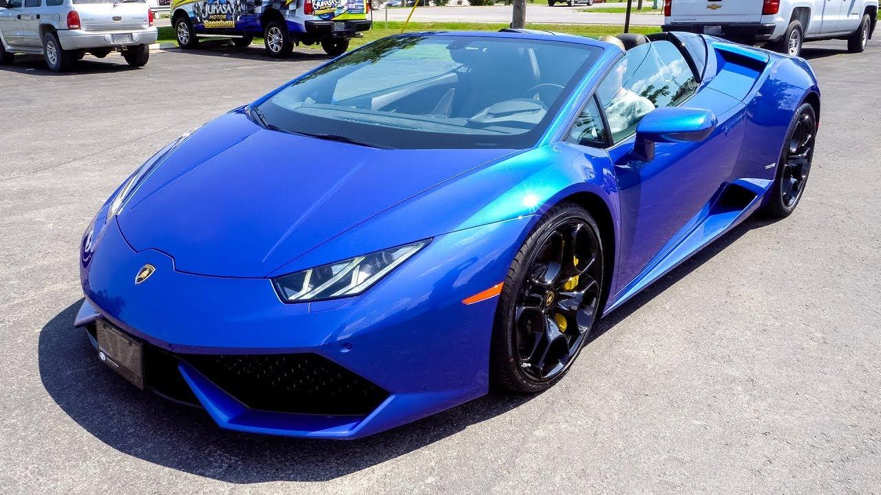 I Deliver A 2017 Lamborghini Huracán LP610-4 Spyder In Blu