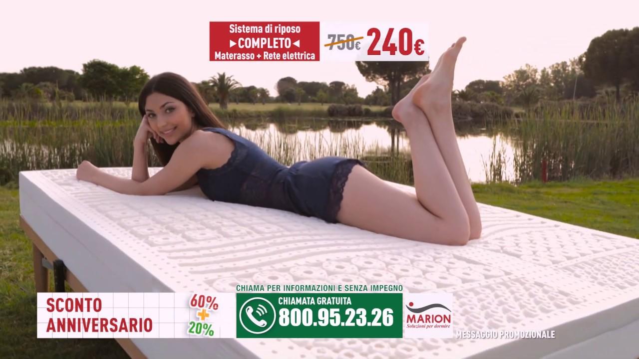 Offerta Anniversario | Sconto 60+20% | Spot Marion Materassi 2019