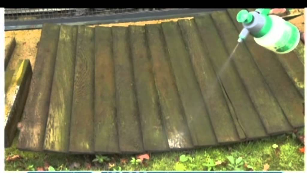 Clearway Byotech Algae Remover On Paths Patios Decking Stone And Wood In Use