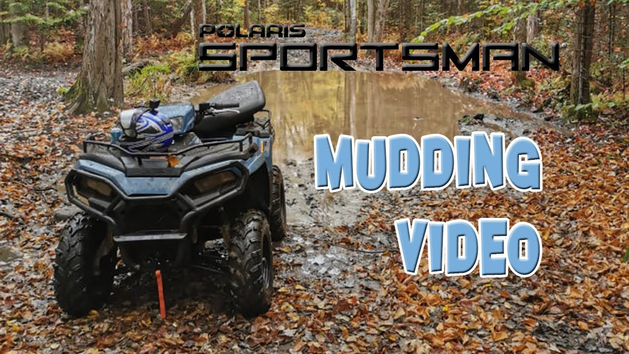 POLARIS ATV Riding In The Mud on Canadian Thanksgiving (I COULDN'T GET STUCK!!)