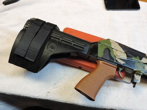 CAI SB47 Stabilizing Brace Install On Super Draco AK47 Pistol