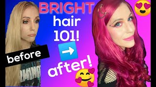 Bright Hair Dye: Tips to DIY Like a Pro! ????