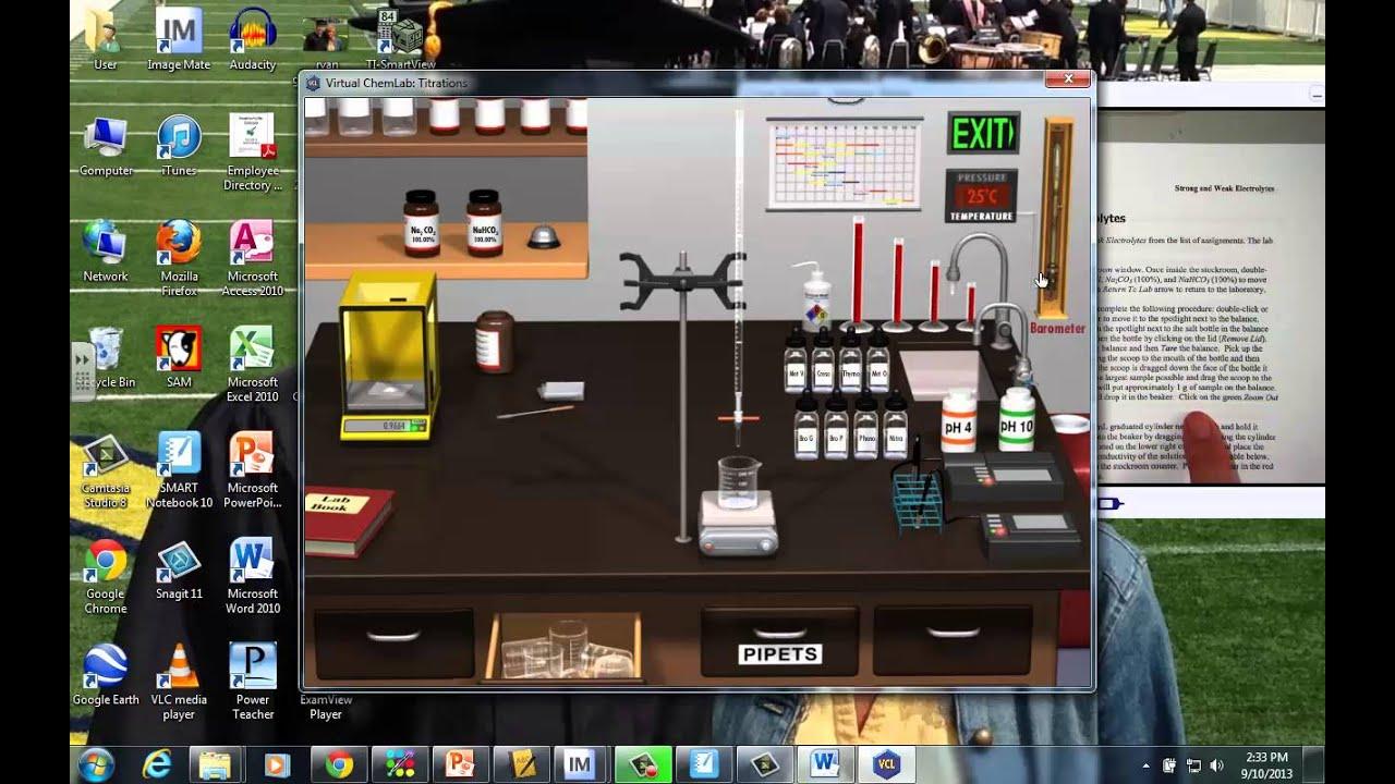 Virtual Chem Lab Electrolytes Tutorial