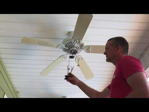 Ceiling Fan Won't Run.  Capacitor Replacement