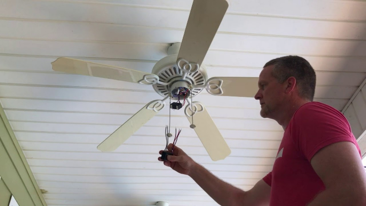 Ceiling Fan Won't Run. Capacitor Replacement - YouTube on