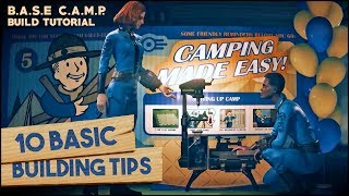 10 Basic Building Tips! 🛠️ FALLOUT 76 B.A.S.E. C.A.M.P.