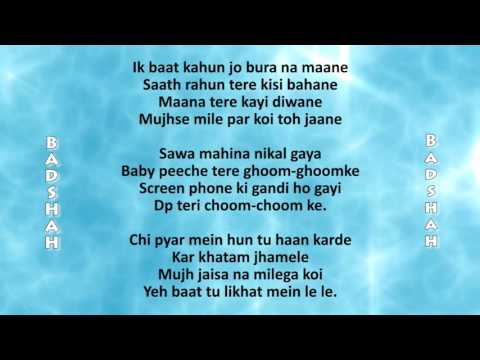 LOVER BOY LYRICS Video - BADSHAH | Shrey Singhal | New Song 2016