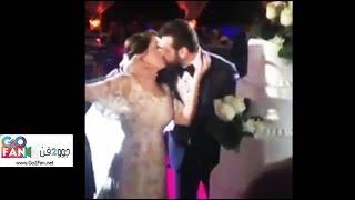 قبلة عمرو يوسف لكندة علوش في حفل زفافهما