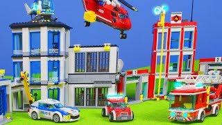 LEGO Polizei & Feuerwehrmann: Feuerwehr Spielzeugautos für Kinder | Polizeistation Episode deutsch