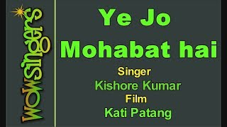 Ye Jo Mohabat Hai - Hindi Karaoke - Wow Singers