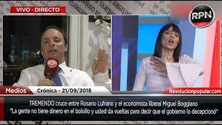 TREMENDO cruce entre Rosario Lufrano y el economista liberal Miguel Boggiano