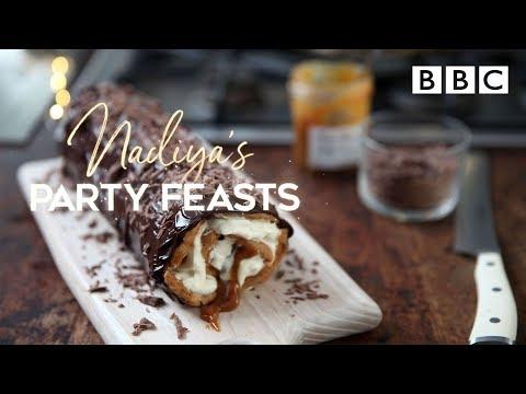 Chocolate Éclair Roll | Nadiya's Party Feasts - BBC