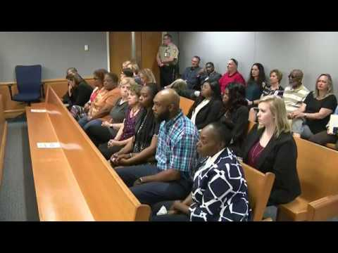 Tiffany Moss reacts as jury recommends death penalty