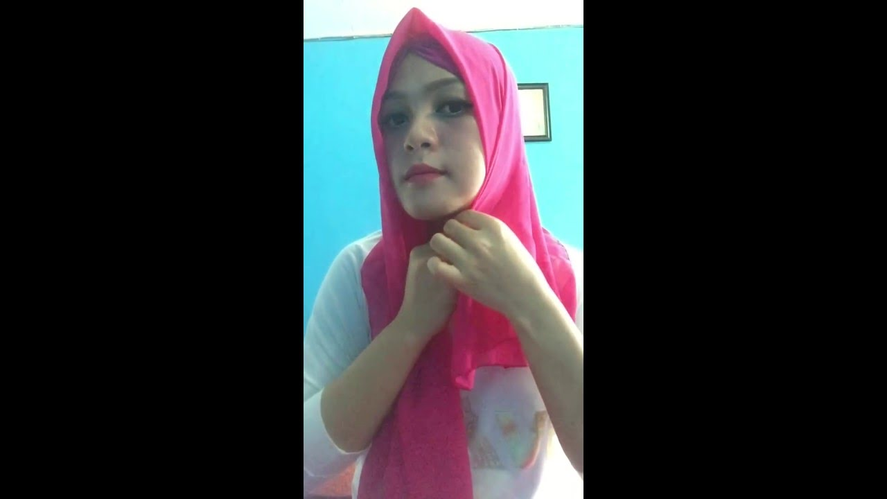 TUTORIAL HIJAB ANTING POMPOM 2016 YouTube