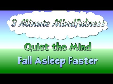 3 Minute Mindfulness - Quiet the Mind and Fall Asleep Faster