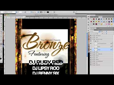 Bronze Love Photoshop Psd Flyer Template