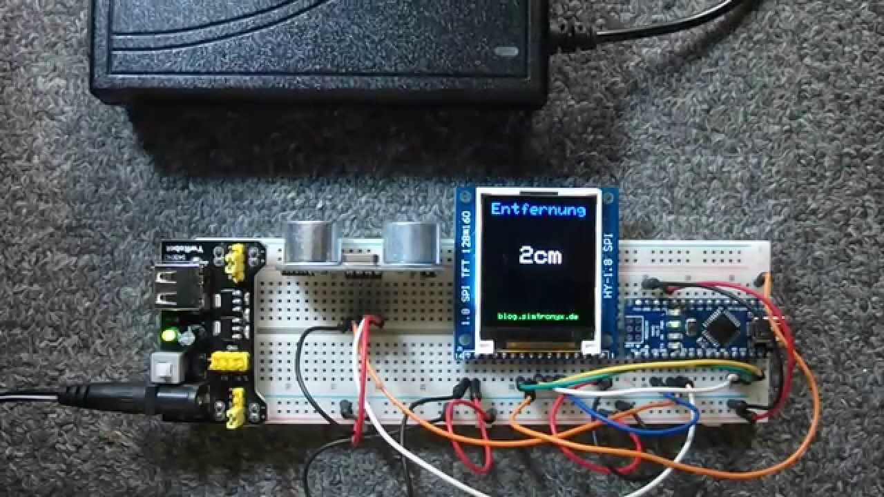 Ultraschall entfernungsmessung mit dem hc sr und einem arduino
