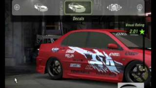 need for speed underground 2 how to make the mitshubishi evo 8 from faf tokyo drift
