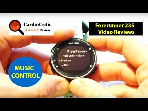 Garmin Forerunner 230 & 235 Music Control - how to control iPhone & Android Music
