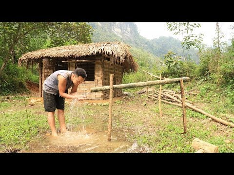 Primitive technology: Irrigation, Water supply by bamboo tub