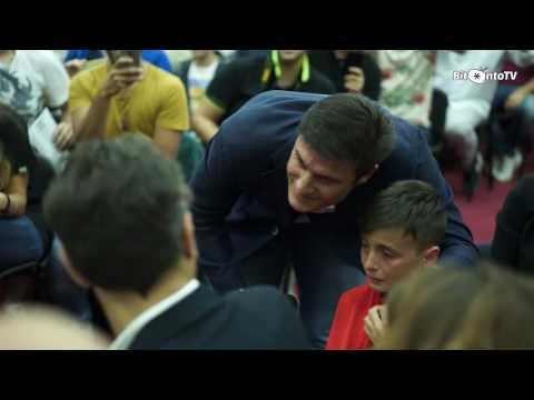 Javier Zanetti a Bitonto per un evento benefico