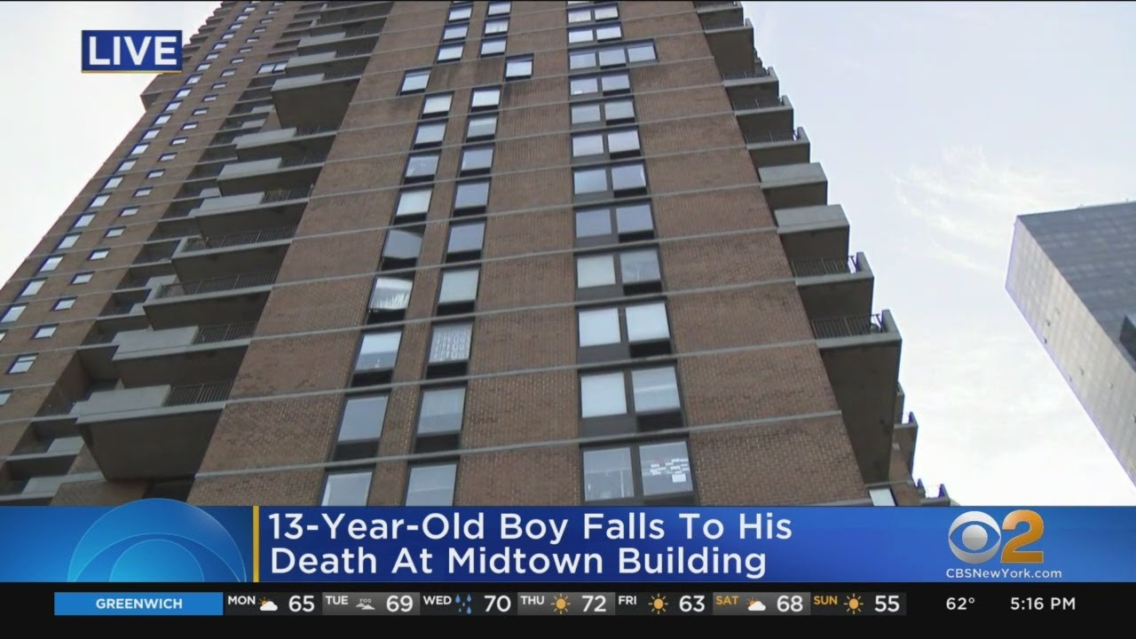 13-Year-Old Boy Dies After Apparent Fall From Terrace In Hell's Kitchen - CBS New York
