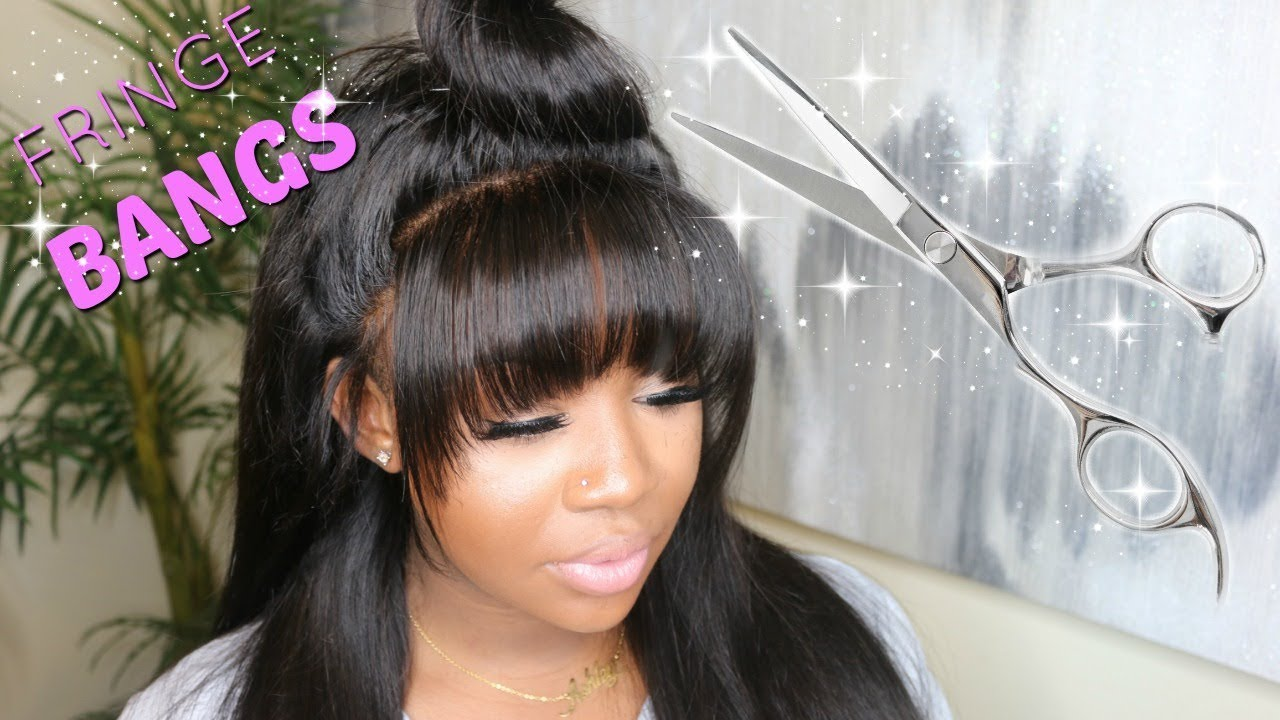 chinese bangs cut to perfect with top knot bun | unice hair