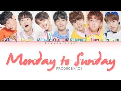 [PRODUCE X 101] Daily Vitamin (데일리 비타민) 'Monday To Sunday' (Color Coded Han/Rom/Eng Lyrics)